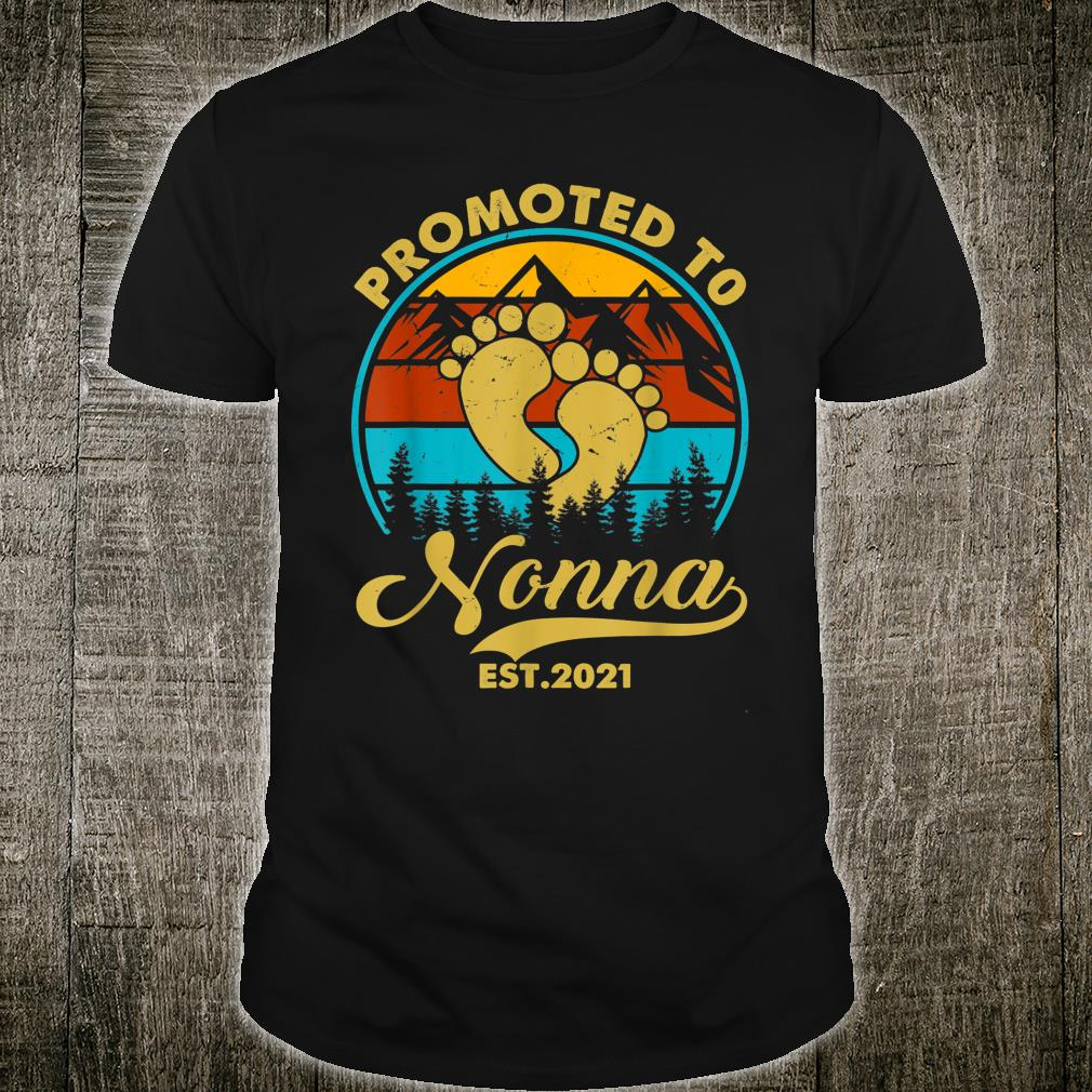 Vintage Promoted To Nonna Est 2021 Thanksgiving Shirt