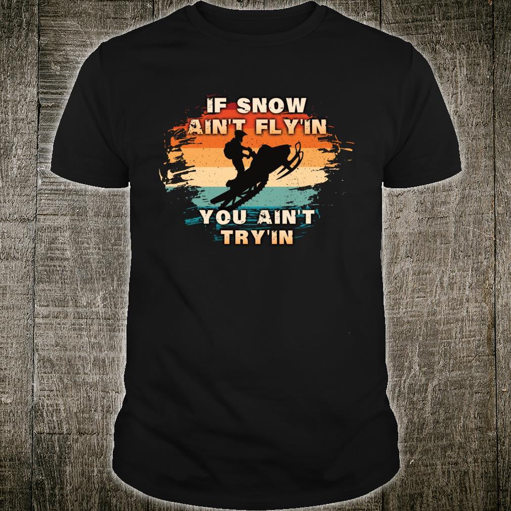 Vintage Retro Snowmobiling For Snowmobilers Snocross Shirt