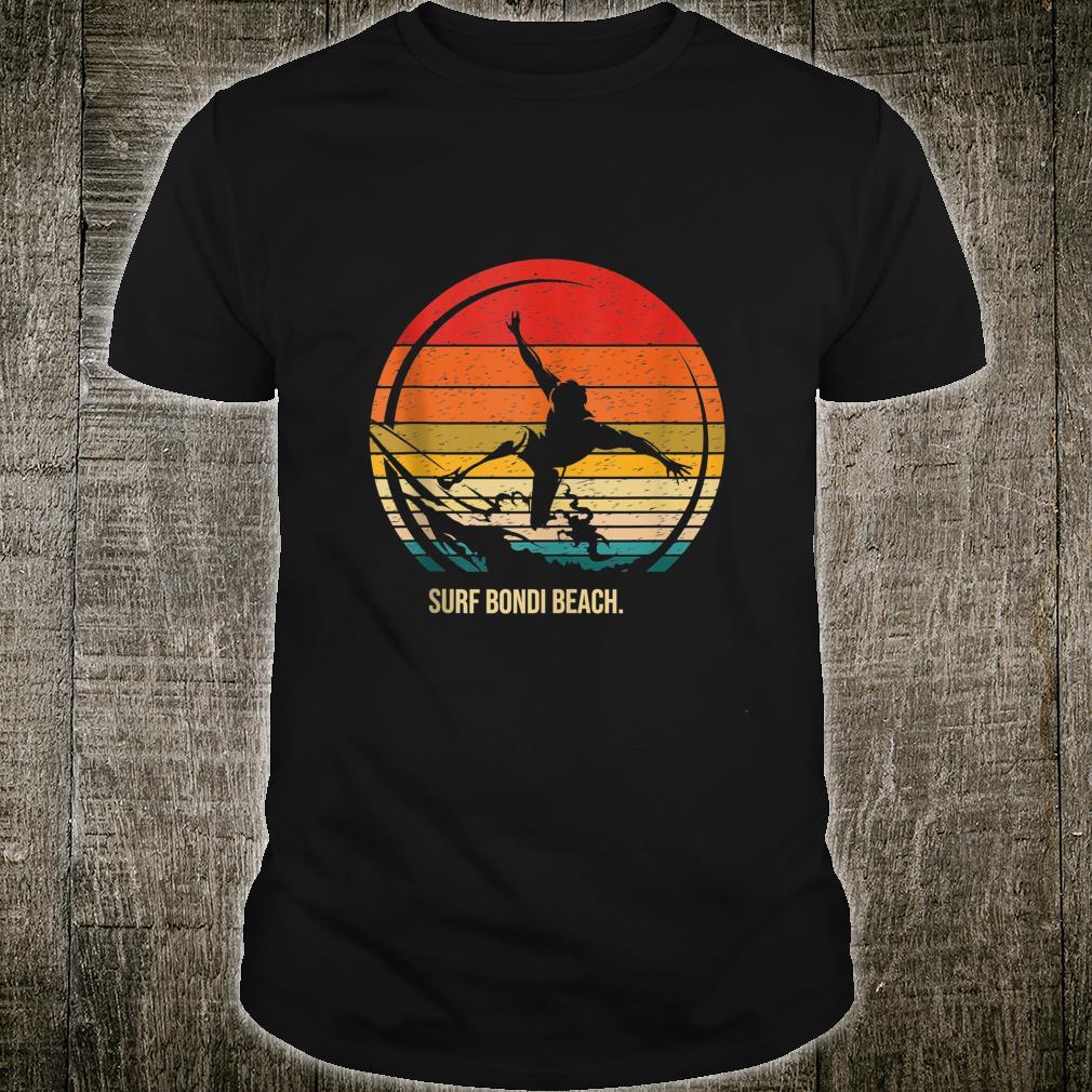 Vintage Surf Bondi Beach Retro Surfer Surfing Shirt