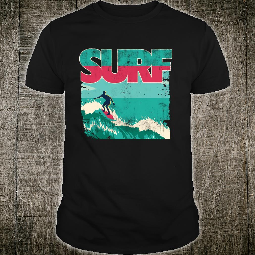 Vintage Surfboarding Retro Art Design Shirt
