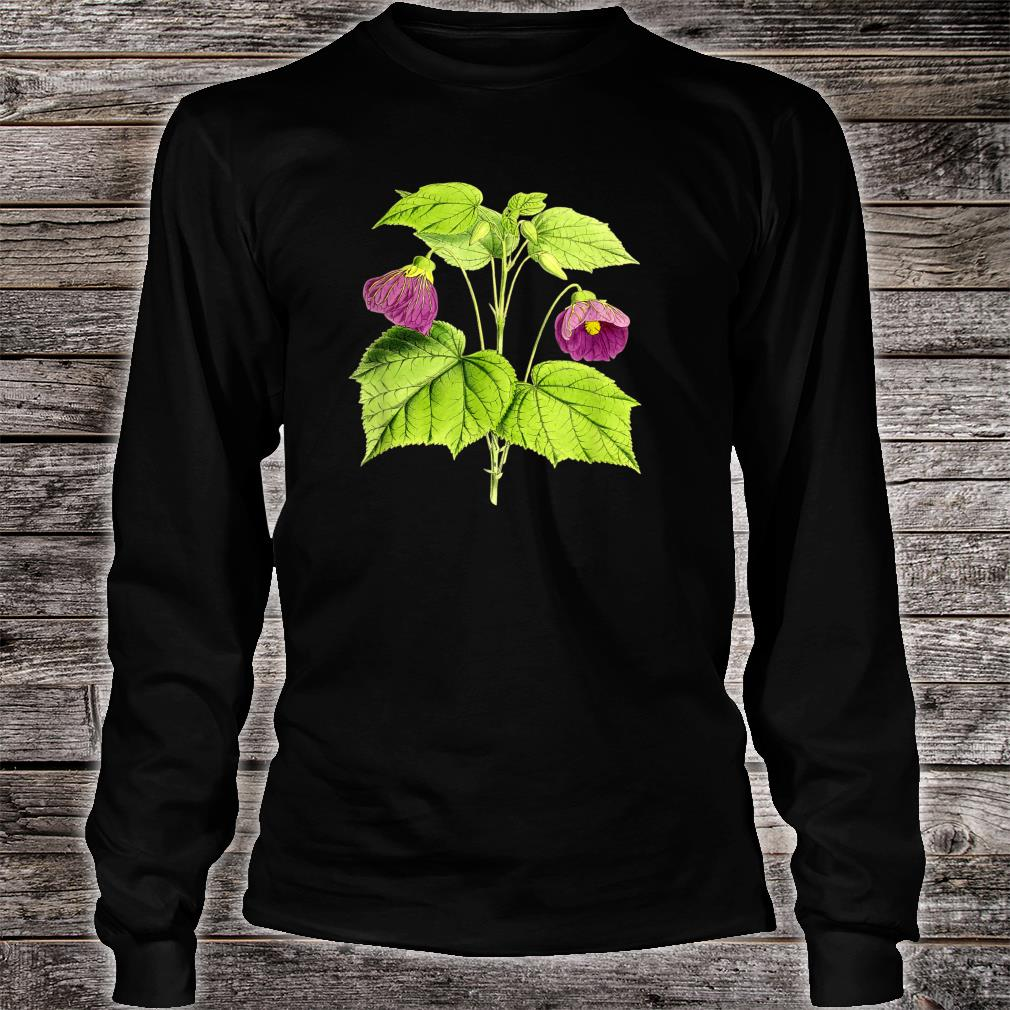 Vintage botanical Floral Flowers Retro Shirt long sleeved