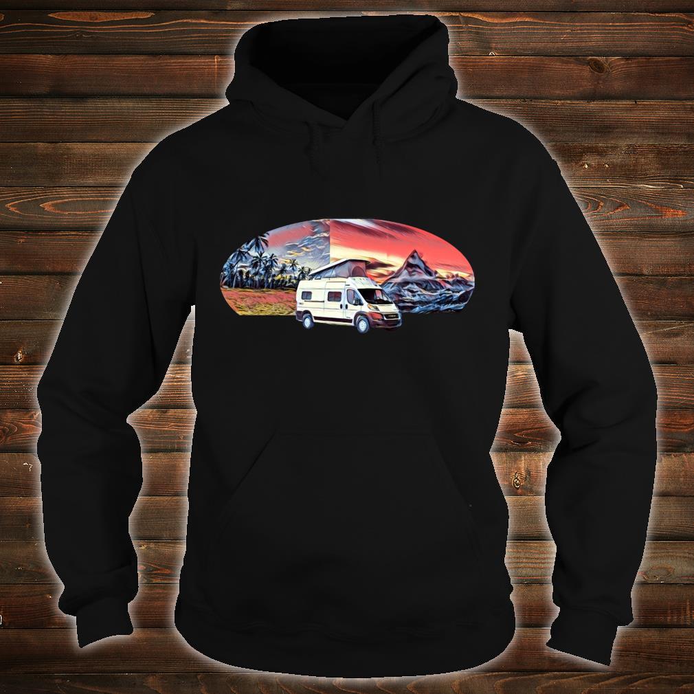 Vom Meer zum Berg PopTop Wohnmobil Shirt hoodie