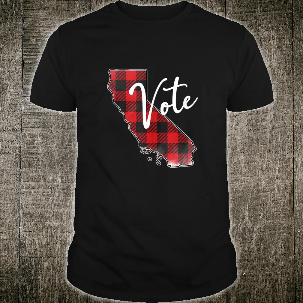 Vote California Election Vote Trump Biden 2020 Red Plaid Shirt