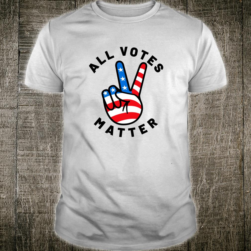 Voting Matters Quote American Flag Voter Design Election Shirt