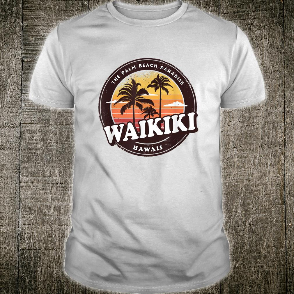 Waikiki Hawaii Vintage Design Shirt