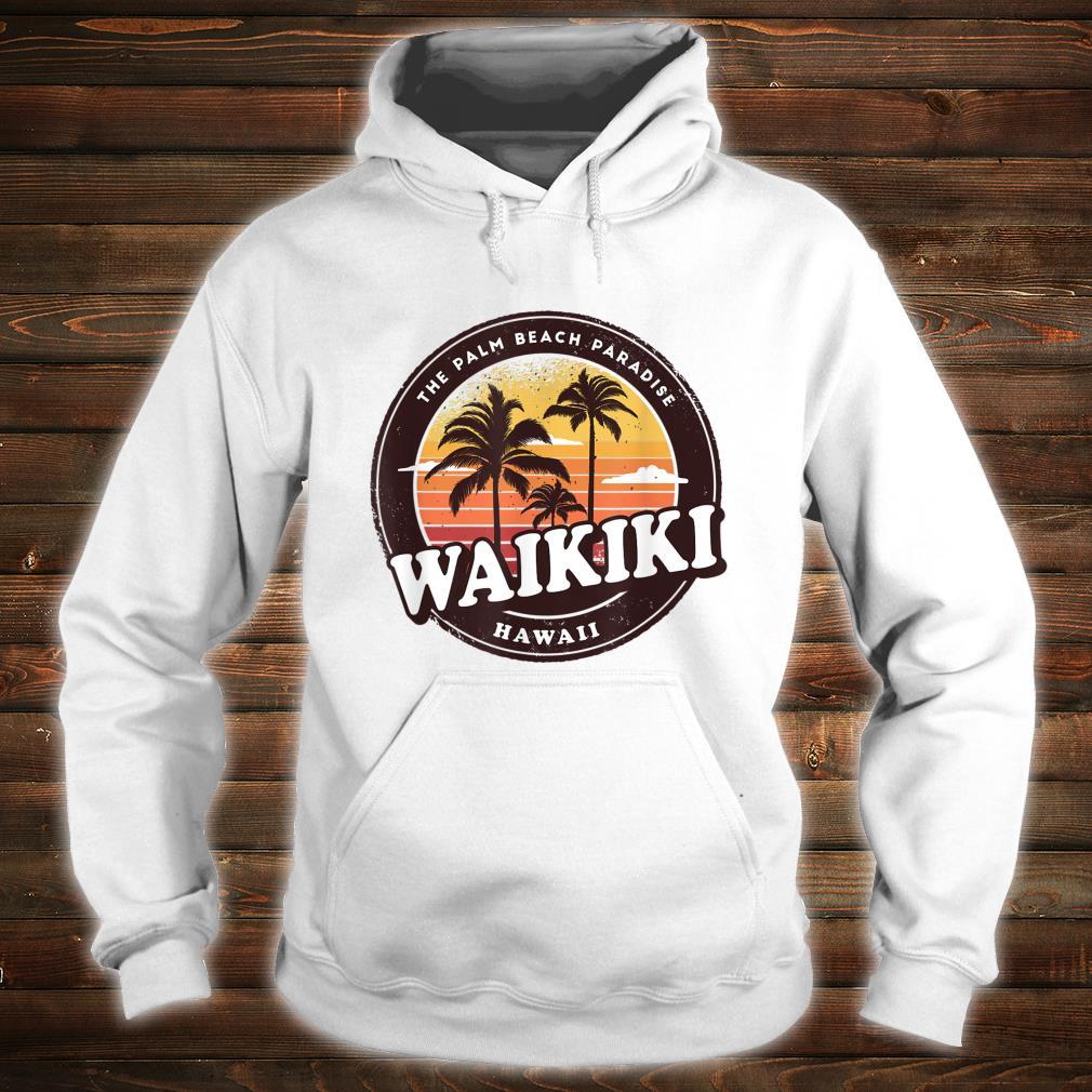 Waikiki Hawaii Vintage Design Shirt hoodie