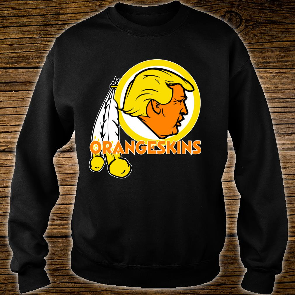 Washington DC Orangeskins Team Logo Trump Parody Football Shirt sweater