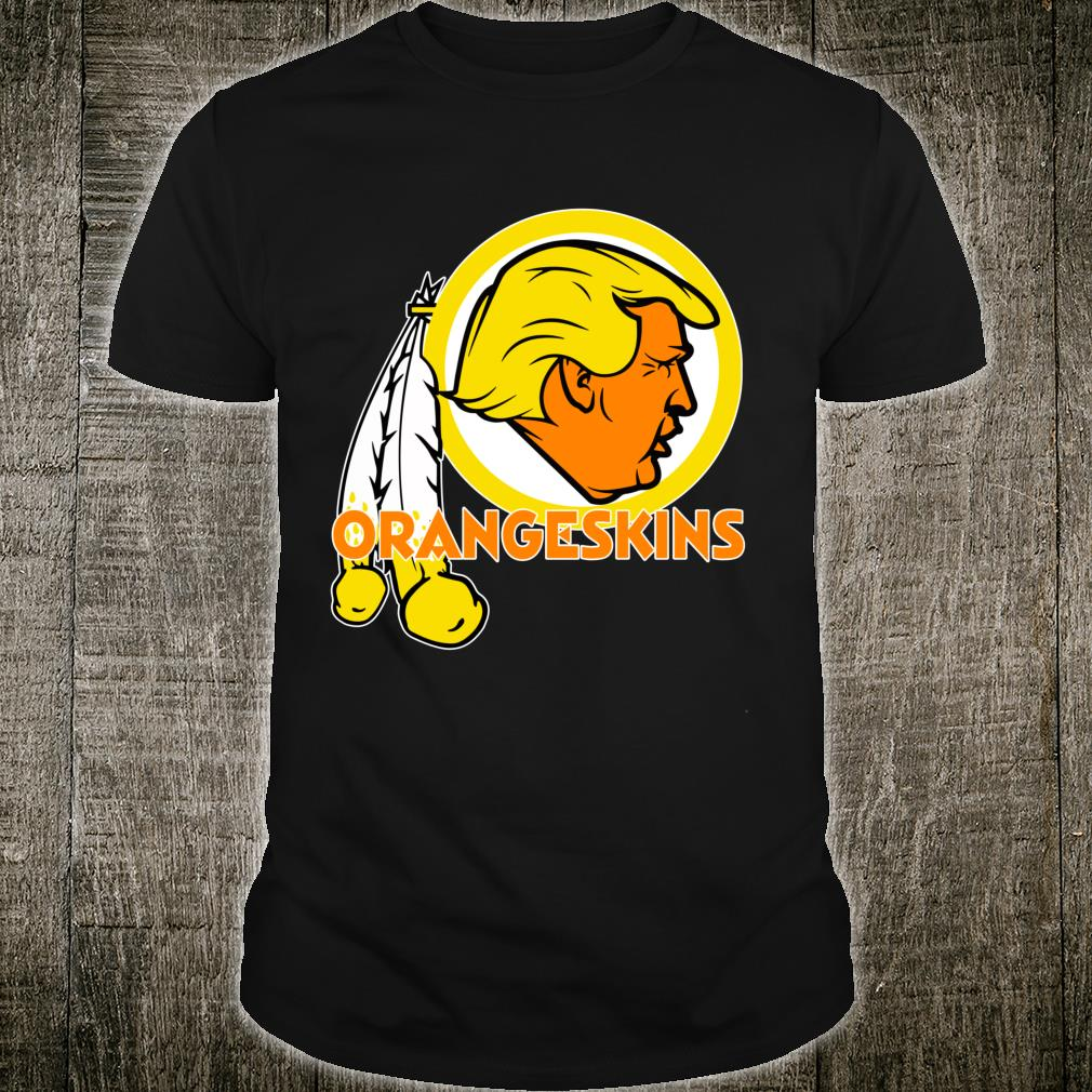 Washington DC Orangeskins Team Logo Trump Parody Football Shirt
