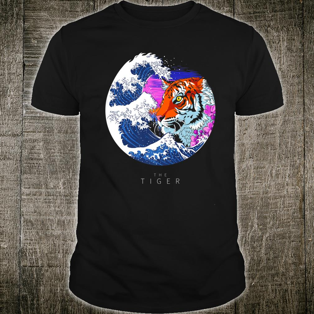 Wave face tiger cherry tree Shirt