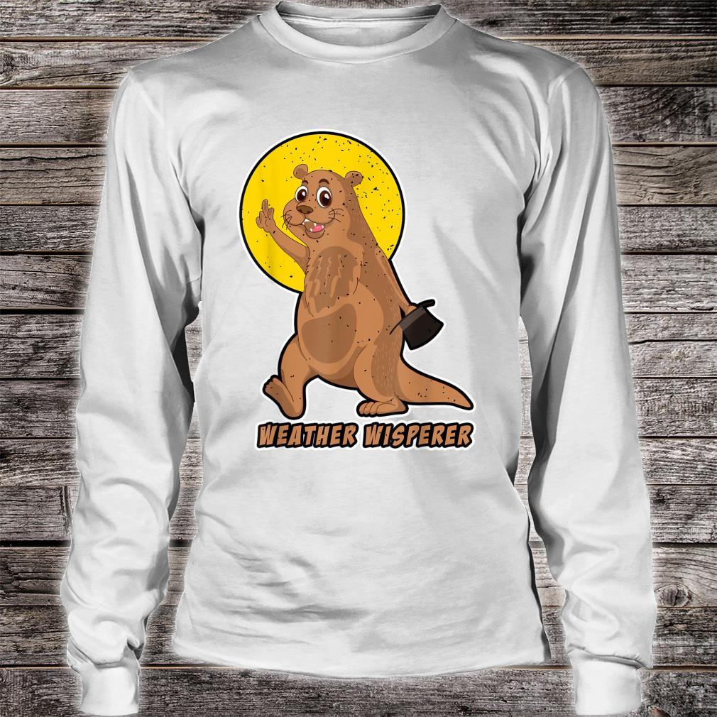 Weather Whisperer Groundhog Day 2021 Hat Image Shirt long sleeved