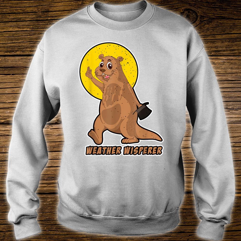 Weather Whisperer Groundhog Day 2021 Hat Image Shirt sweater