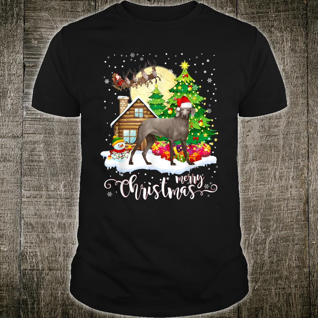Weimaraner merry christmas dog Shirt