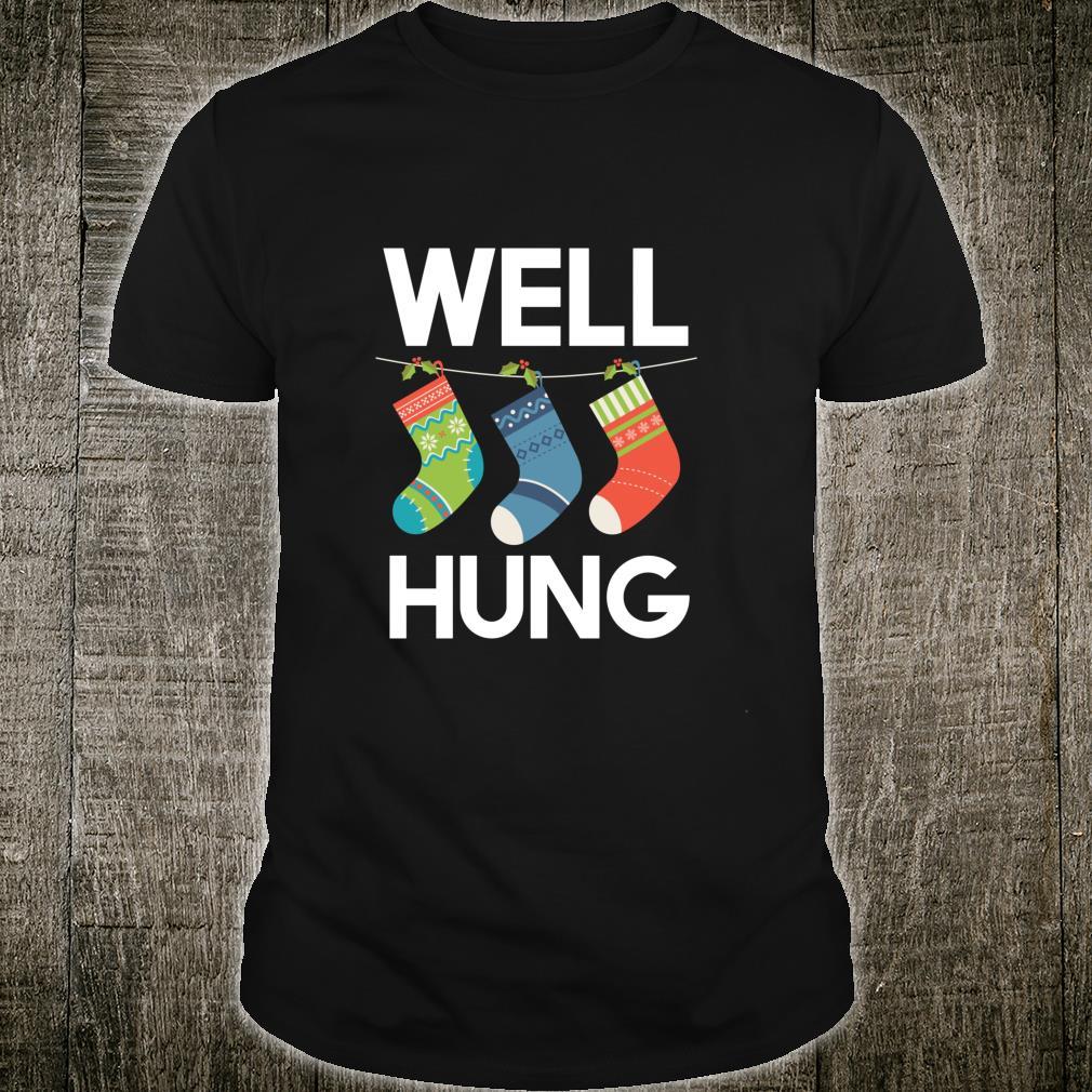 Well Hung Christmas Design Shirt