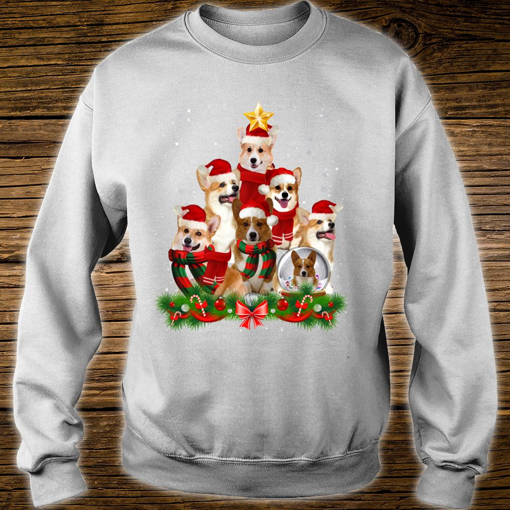 Welsh Corgi Dog Christmas Dog Light Tree Xmas Santa Shirt sweater