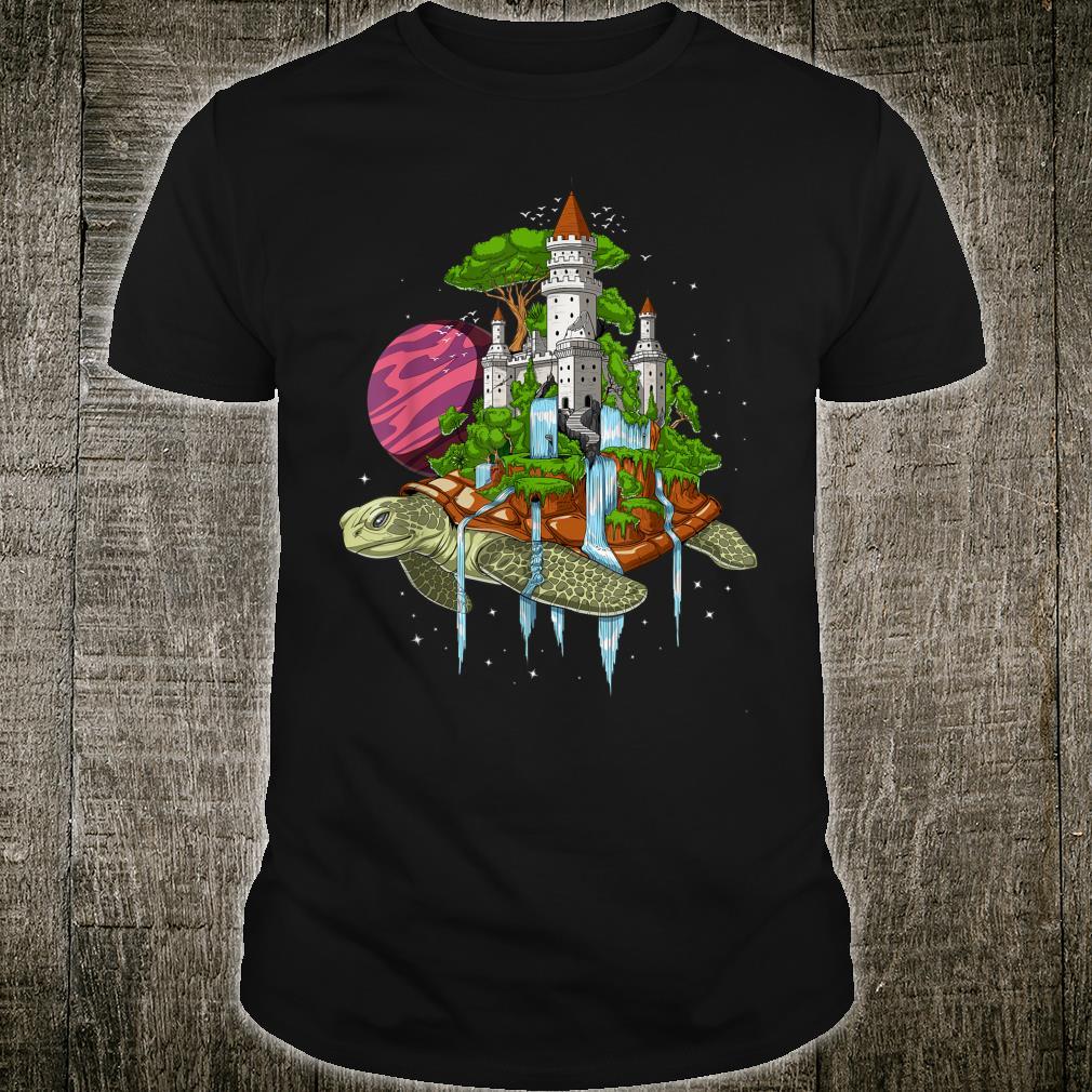 Weltraum Schildkröte Kosmische Psychedelische Flache Erde Shirt