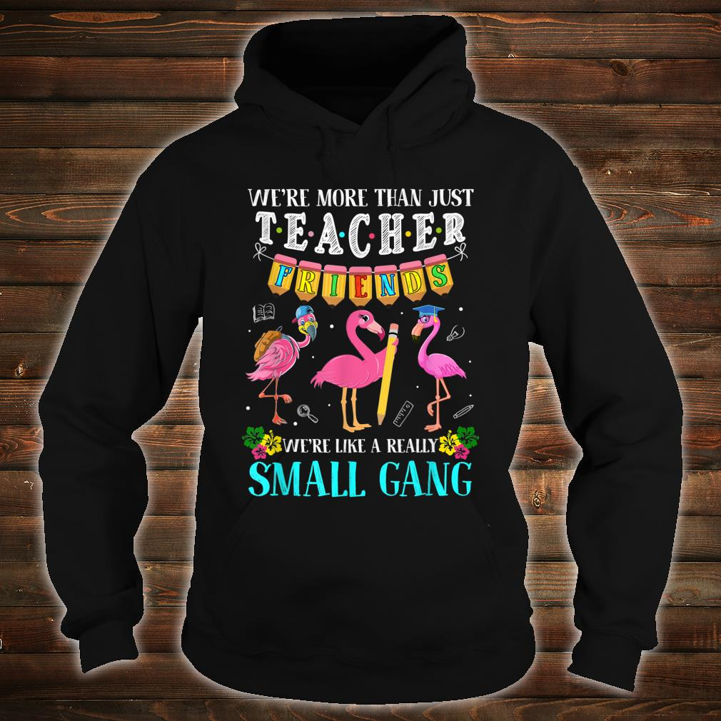 We're More Than Just Teacher Friends Flamingos Shirt hoodie