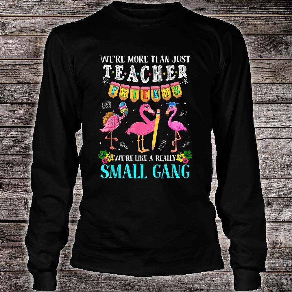We're More Than Just Teacher Friends Flamingos Shirt long sleeved