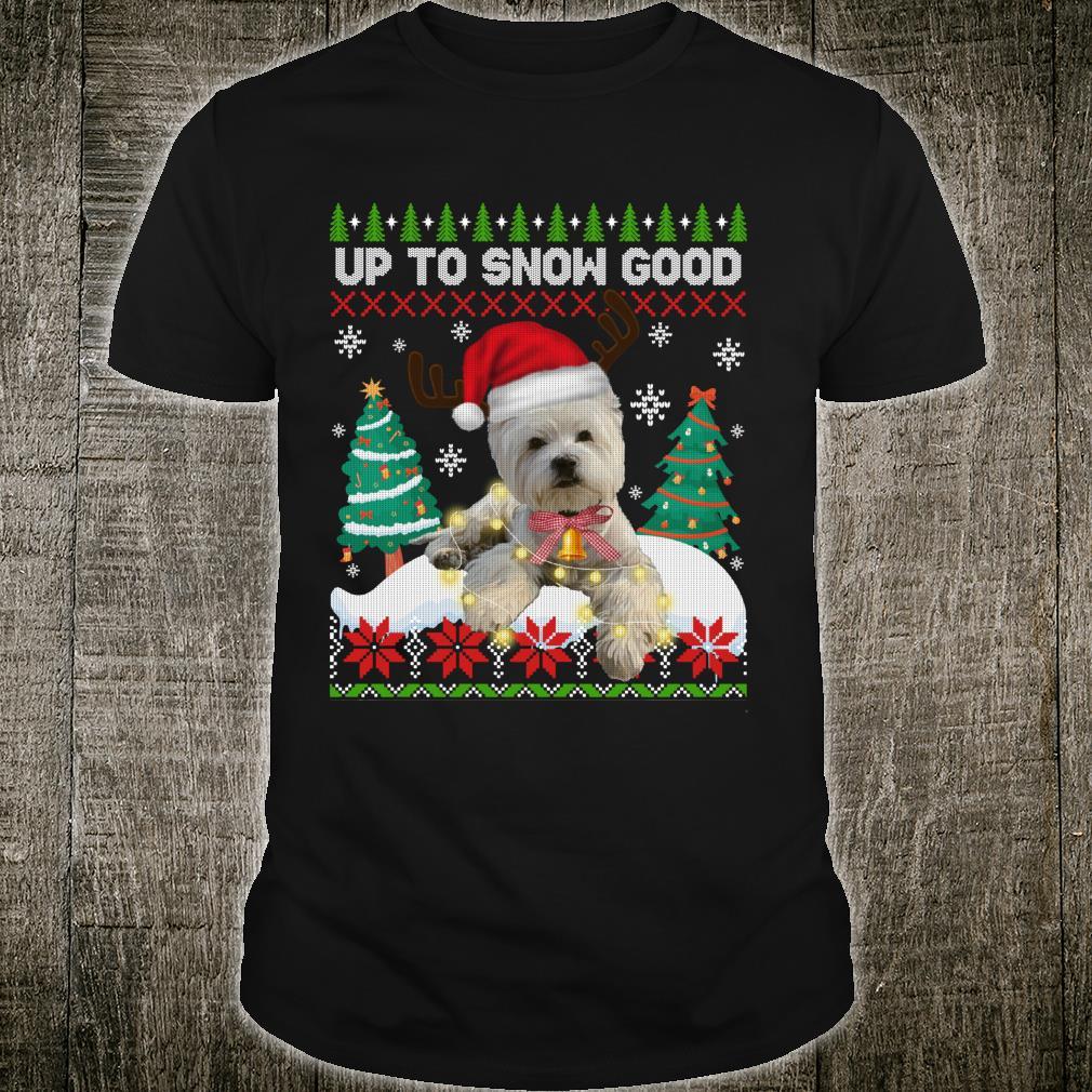 Westie Dog Reindeer Christmas Ugly Xmas Shirt