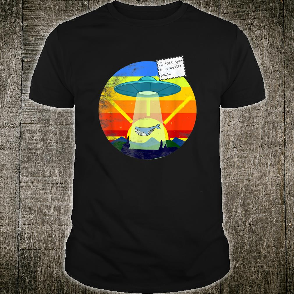 Whale Journey in a Ufo Shirt
