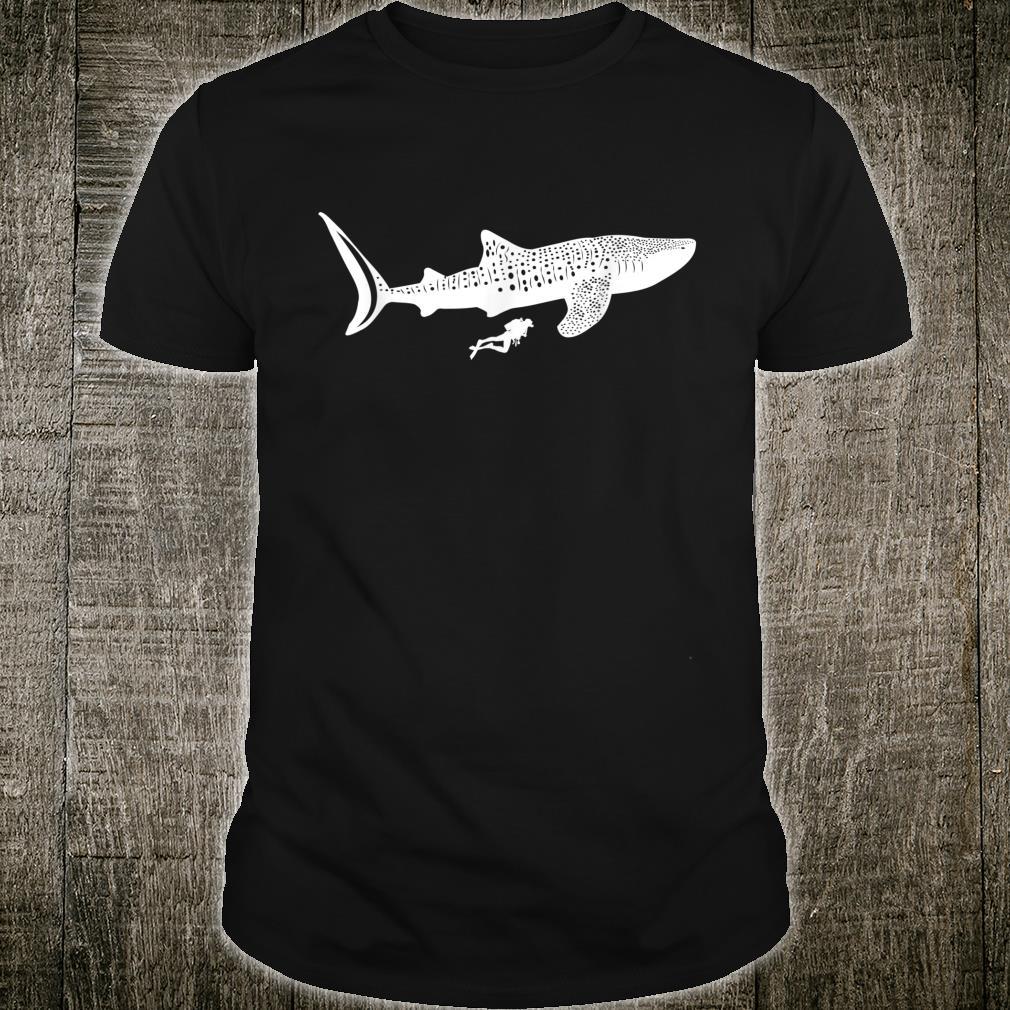 Whale Shark Diving Scuba Diver Ocean Flippers Reef Sea Shirt