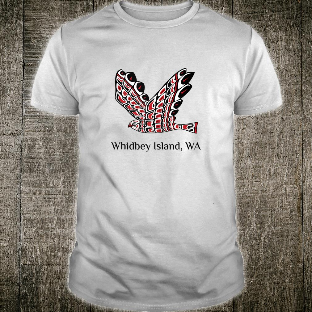Whidbey Islands Washington Red Tail Hawk PNW Native American Shirt
