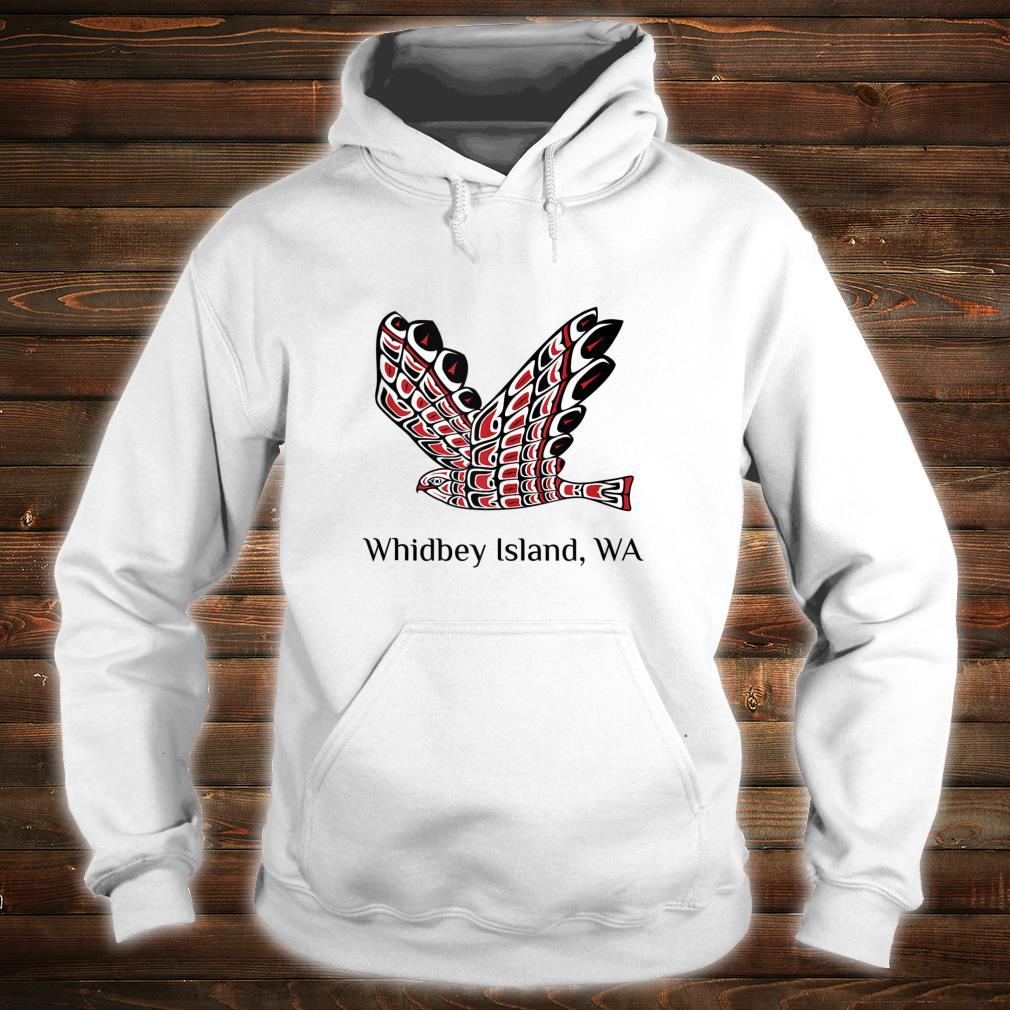 Whidbey Islands Washington Red Tail Hawk PNW Native American Shirt hoodie
