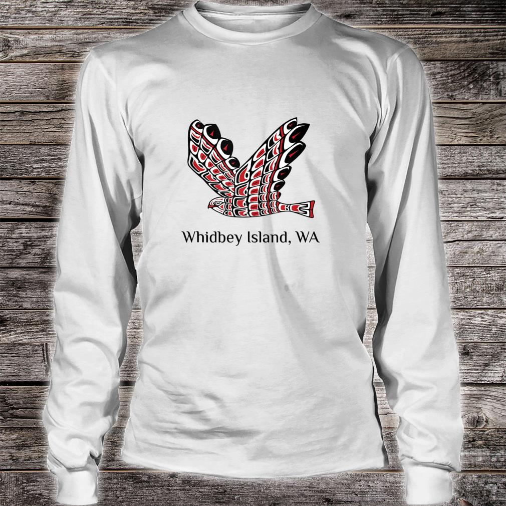 Whidbey Islands Washington Red Tail Hawk PNW Native American Shirt long sleeved