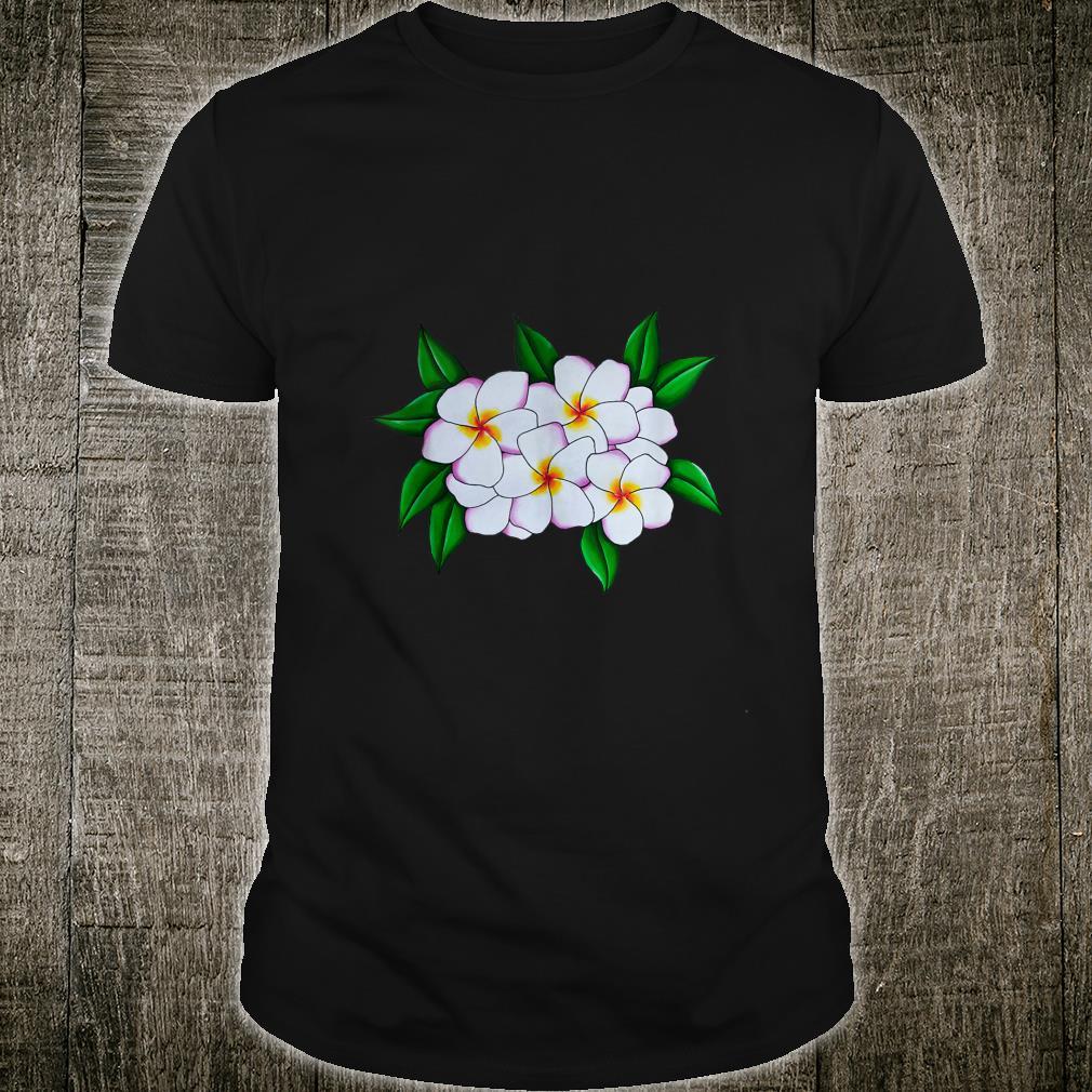 White Tropical Frangipani Flower Head Guam Plant Shirt