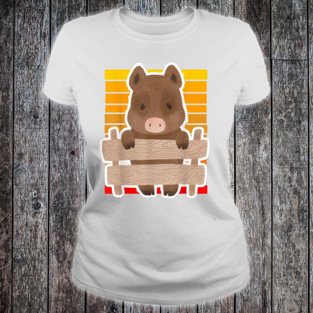 Wild Boar Vintage Sunset Wild Boar Sunset Shirt ladies tee