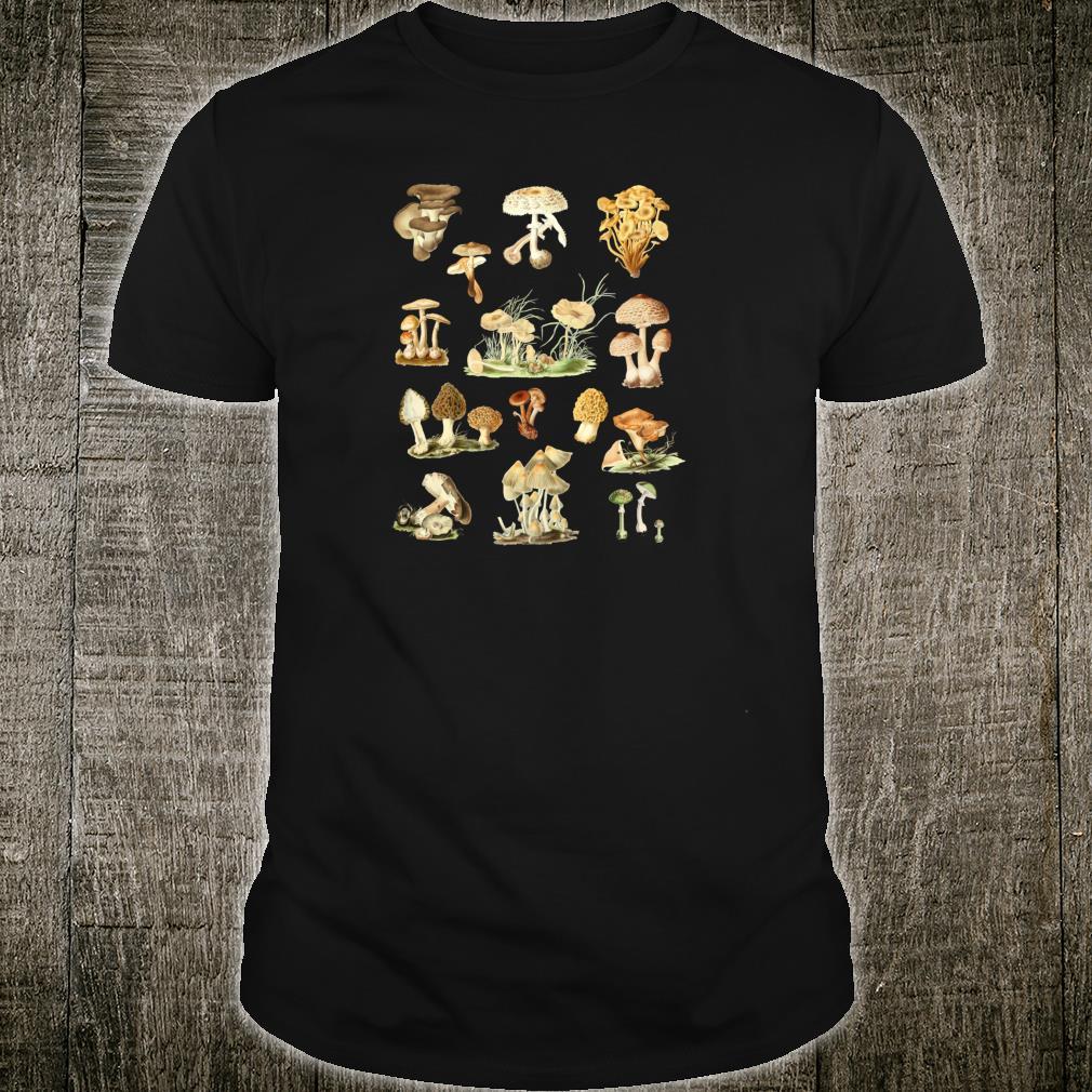 Wild Mushrooms Shirt Cute Mycological Food Art Shirt