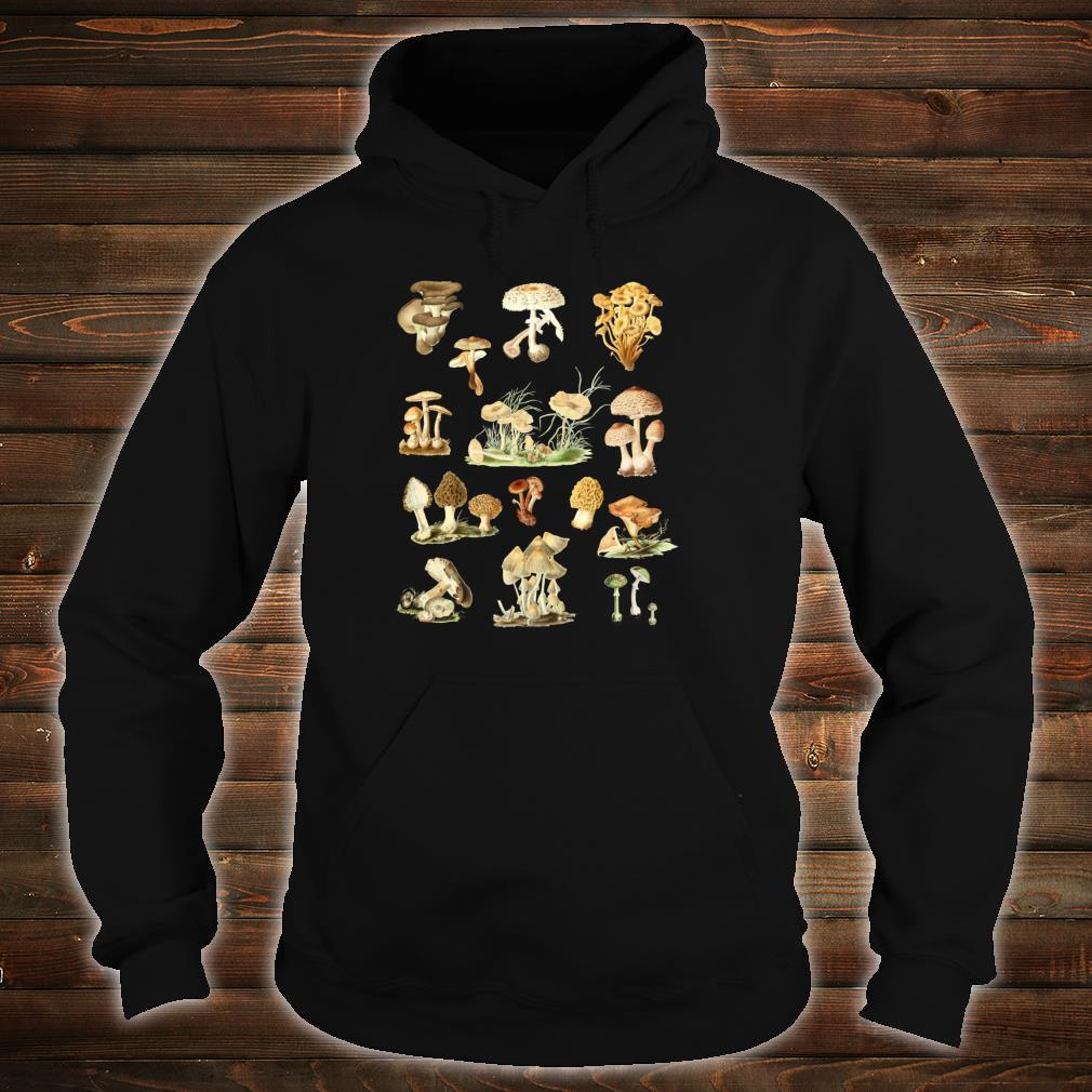 Wild Mushrooms Shirt Cute Mycological Food Art Shirt hoodie