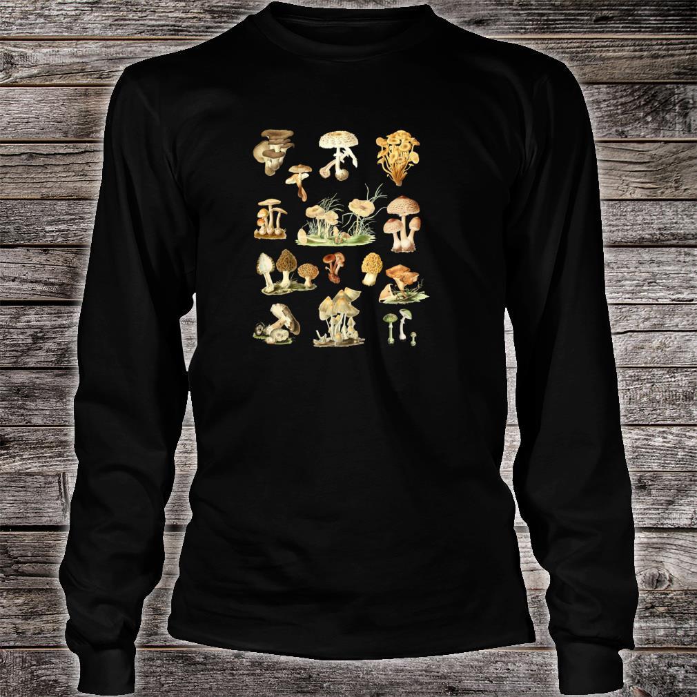 Wild Mushrooms Shirt Cute Mycological Food Art Shirt long sleeved