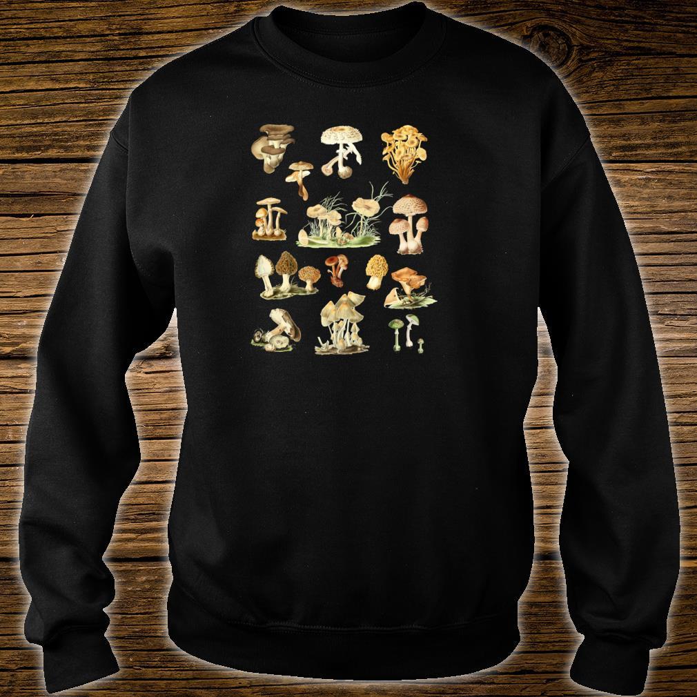 Wild Mushrooms Shirt Cute Mycological Food Art Shirt sweater