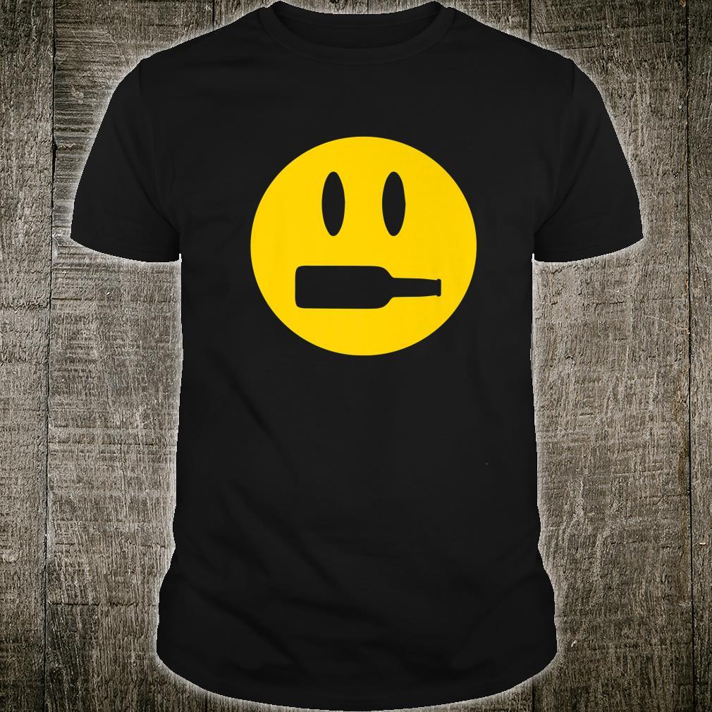Wine Bottle Mouth Drinking Wine Emoji Face Shirt