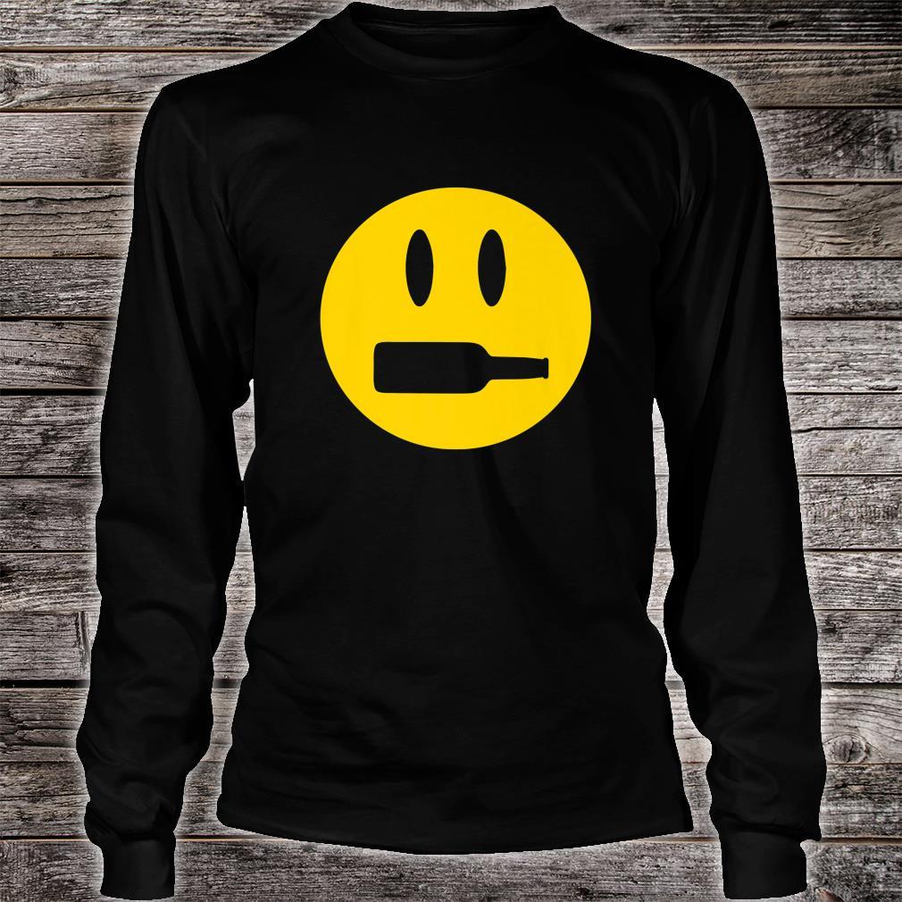 Wine Bottle Mouth Drinking Wine Emoji Face Shirt long sleeved