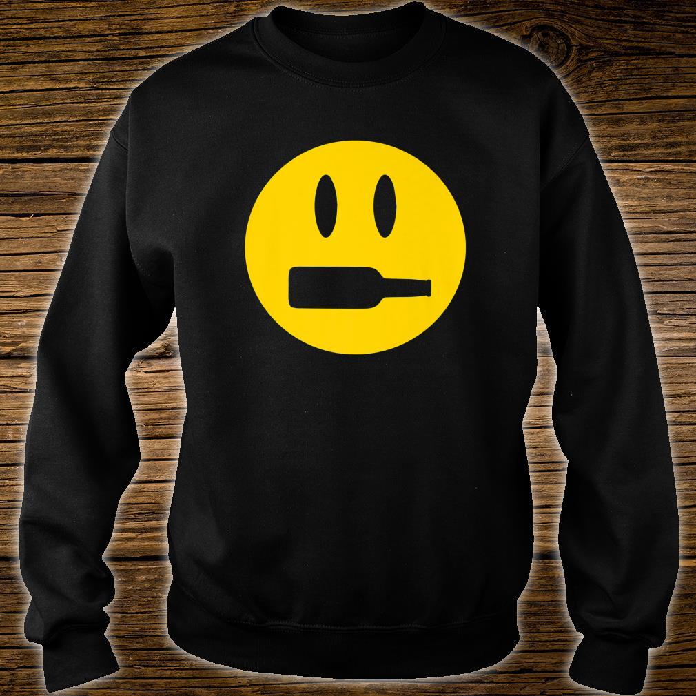 Wine Bottle Mouth Drinking Wine Emoji Face Shirt sweater