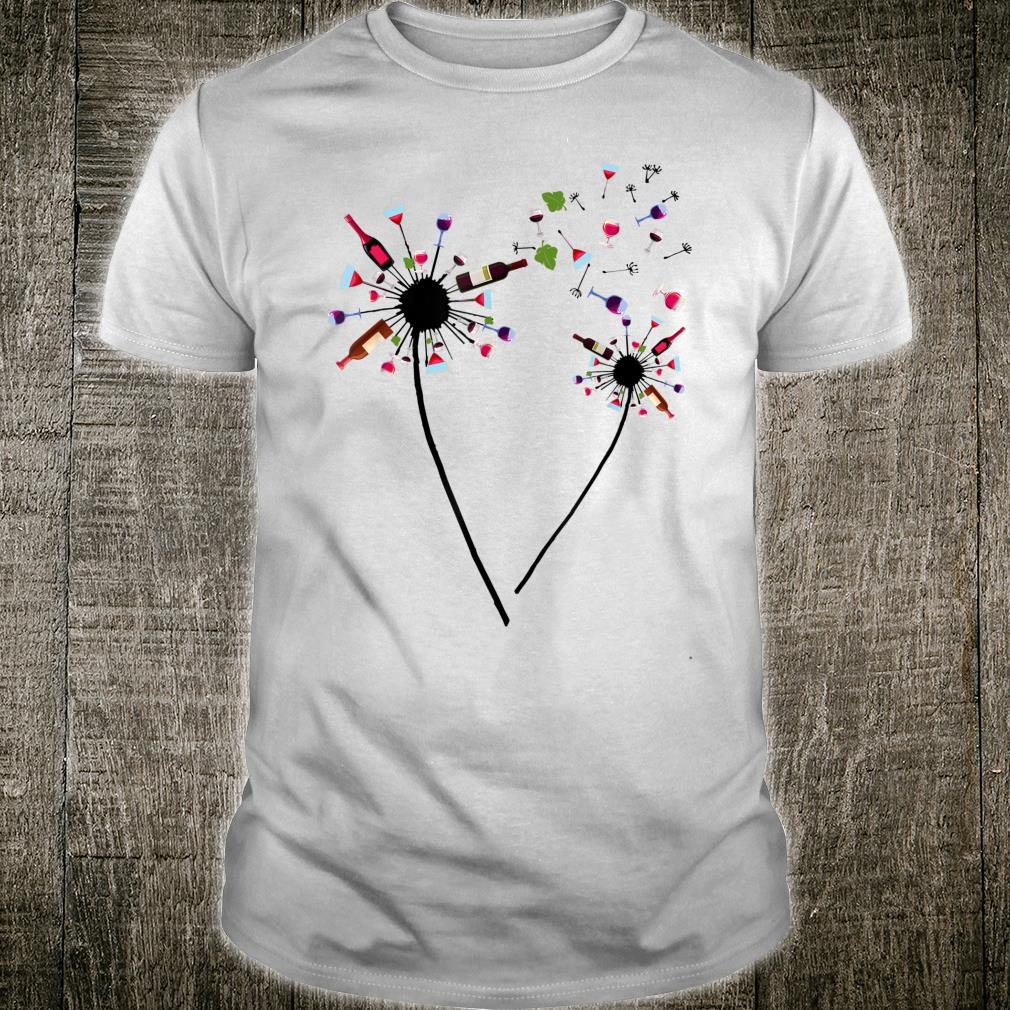 Wine Dandelion Drinking Wine Rosé For Wine Lovers Rosé Shirt