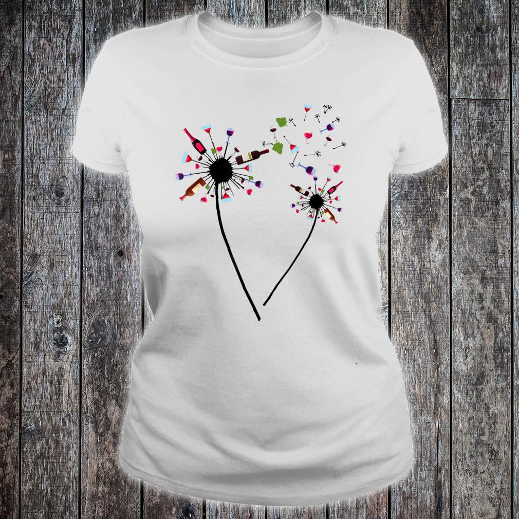 Wine Dandelion Drinking Wine Rosé For Wine Lovers Rosé Shirt ladies tee