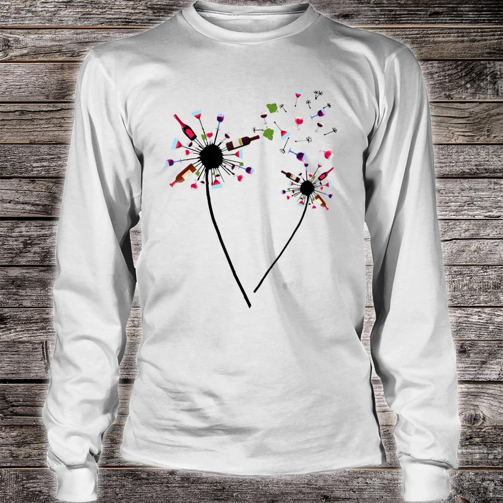 Wine Dandelion Drinking Wine Rosé For Wine Lovers Rosé Shirt long sleeved