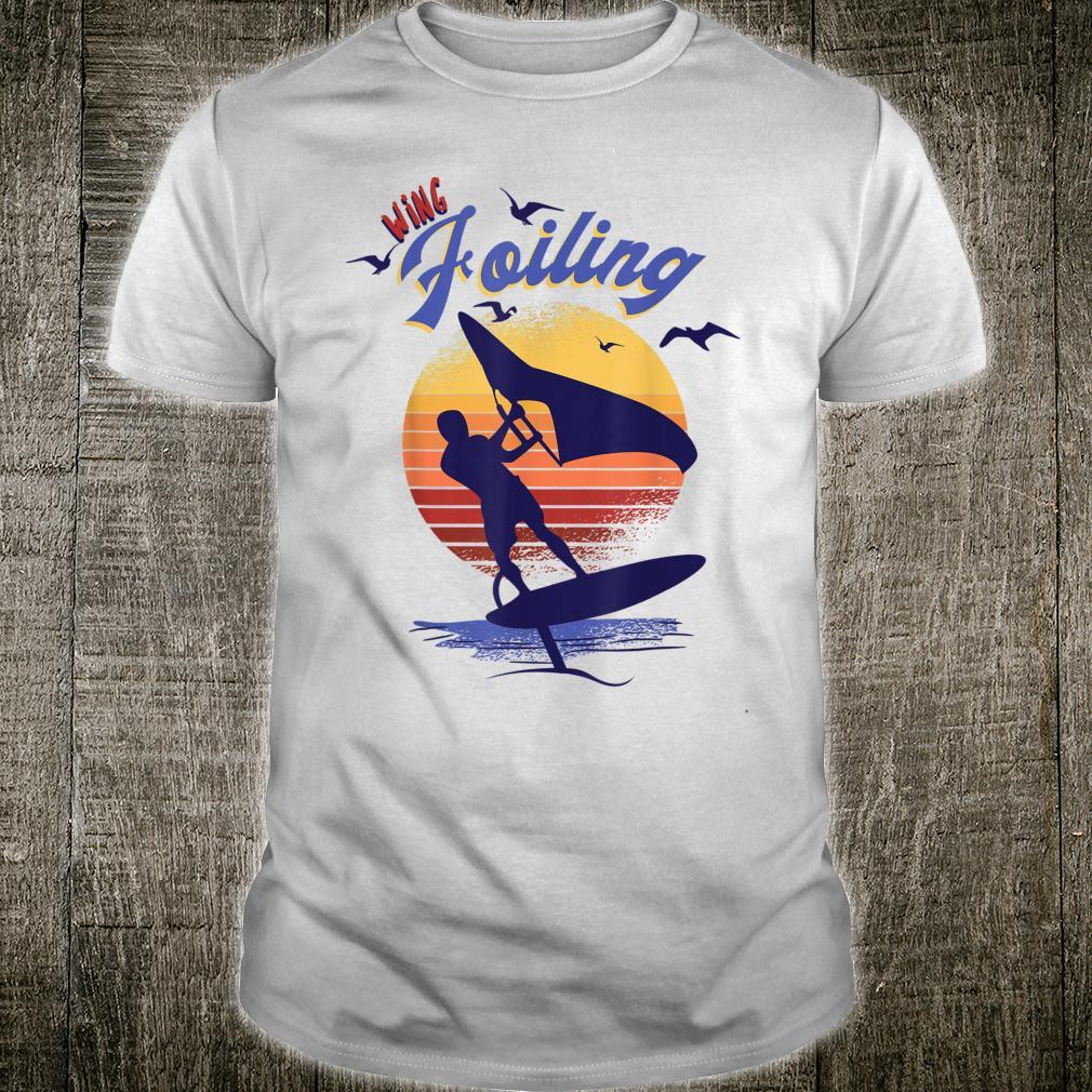 Wing Foiling Design for Surfer Shirt