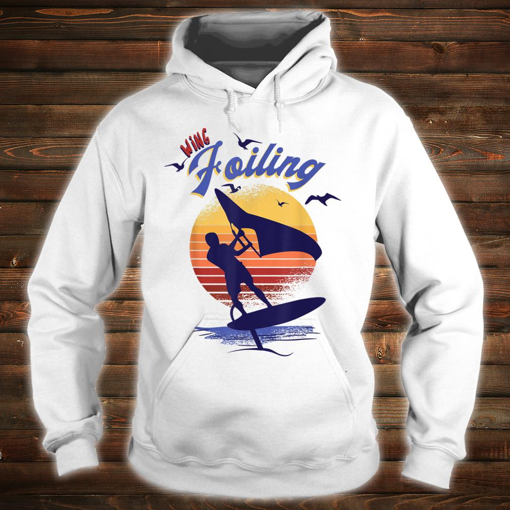 Wing Foiling Design for Surfer Shirt hoodie