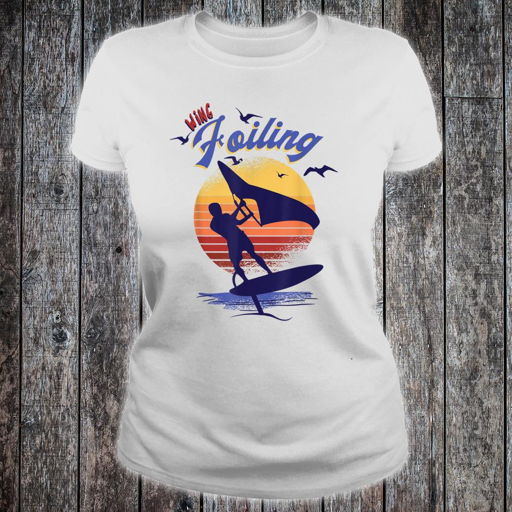 Wing Foiling Design for Surfer Shirt ladies tee
