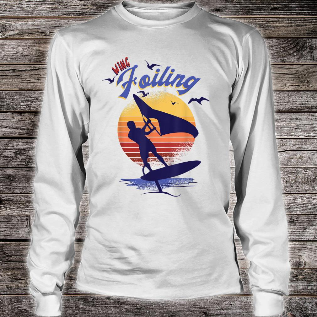 Wing Foiling Design for Surfer Shirt long sleeved
