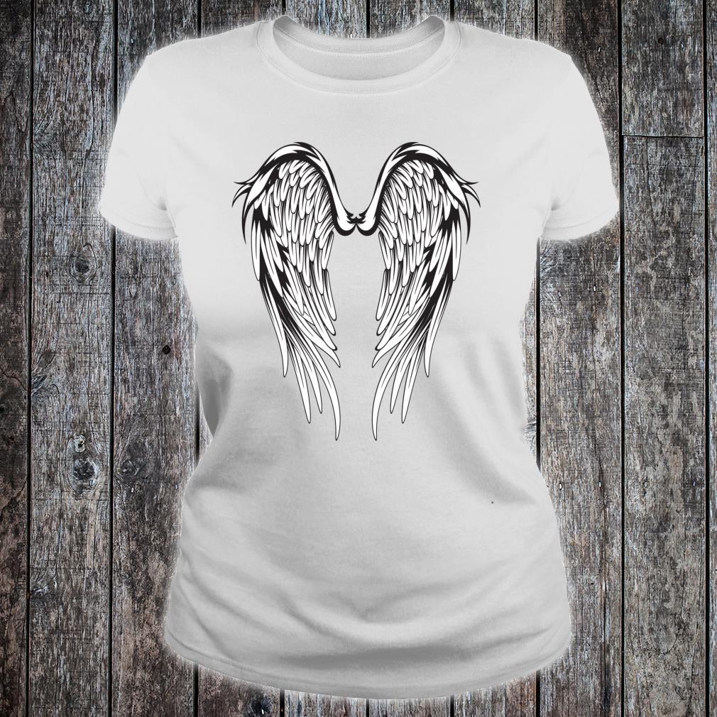Wings #2 On The Back Side Angel Shirt ladies tee