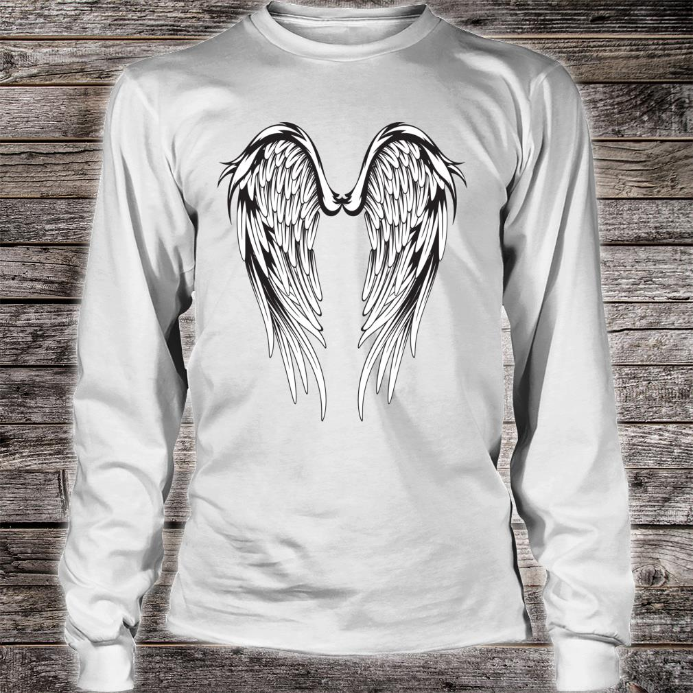 Wings #2 On The Back Side Angel Shirt long sleeved