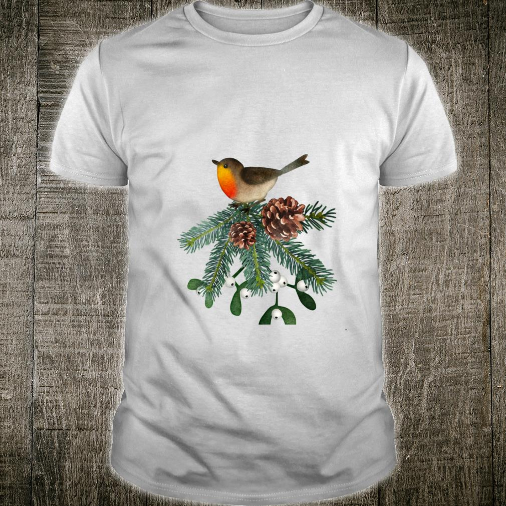 Winter Swag Christmasinspired Bird Birder Gardener Shirt