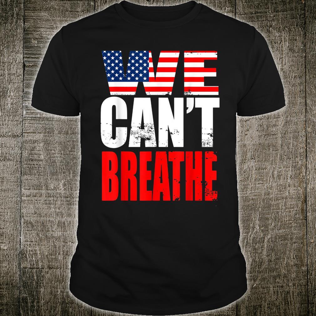 Wir Können Nicht Atmen Black Lives Matter Flag Retro Shirt