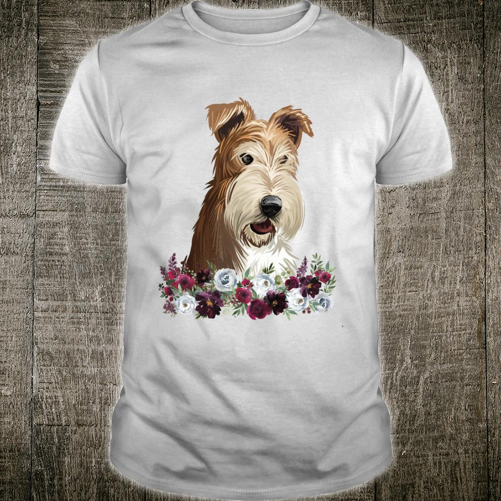 Wire Fox Terrier Dog Floral Shirt