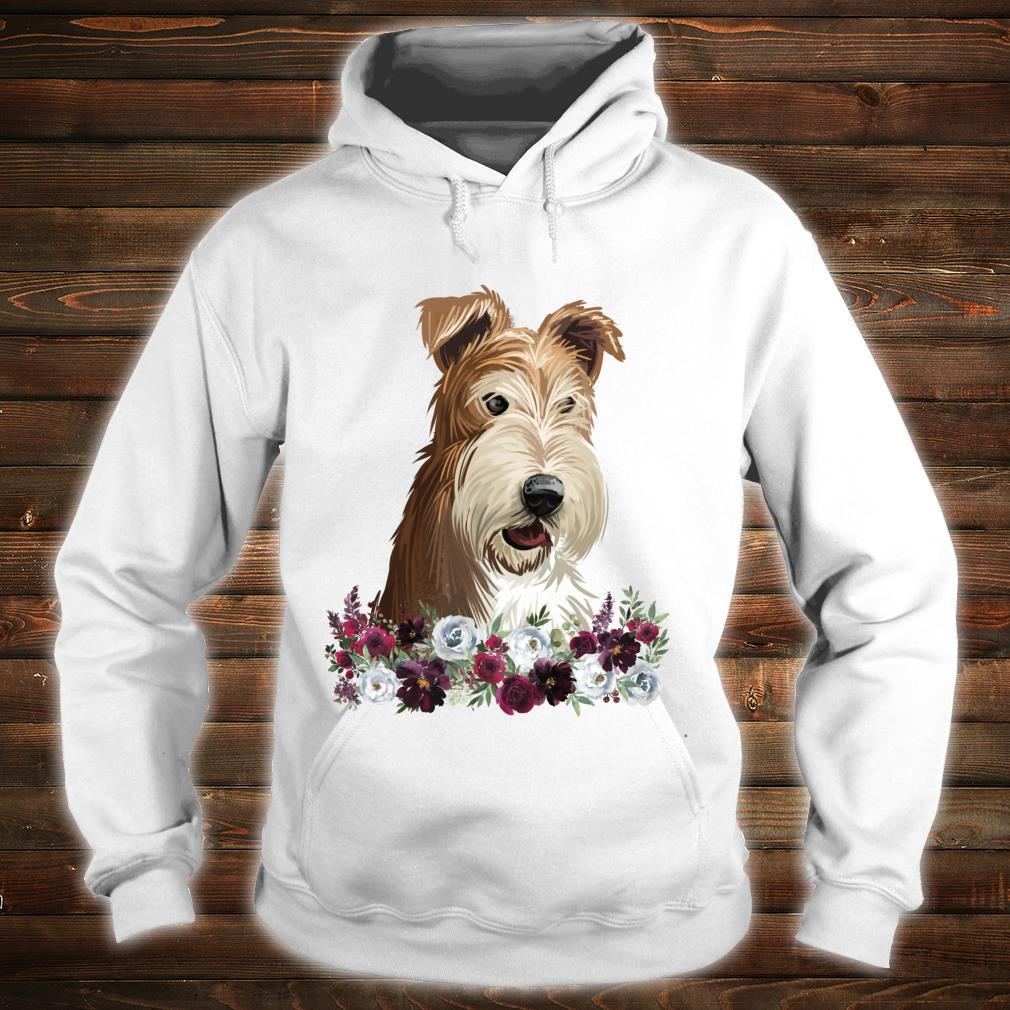 Wire Fox Terrier Dog Floral Shirt hoodie