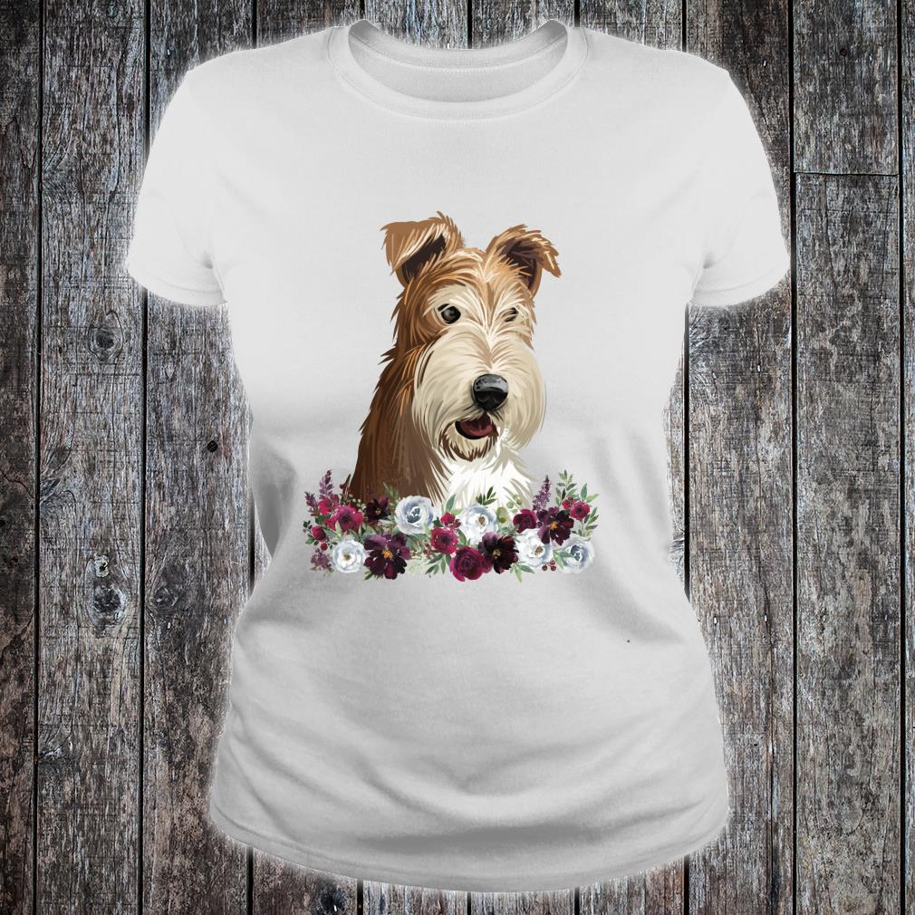 Wire Fox Terrier Dog Floral Shirt ladies tee